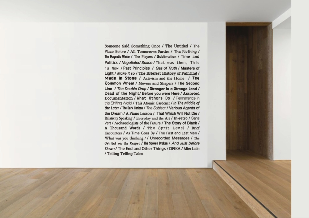 53 terrible titles for exhibitions 2004 to 2013