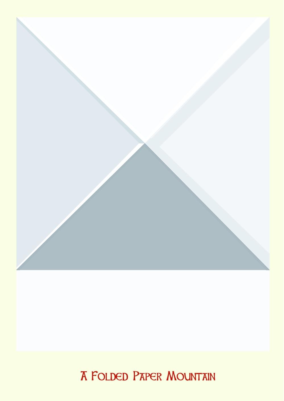 a folded papermountain