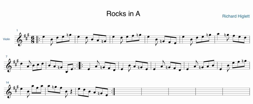 Rocks in A